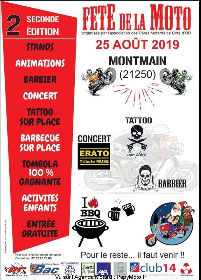 MANIFESTATION - Fete de la Moto - 25 AOUT 2019 - Montmain (21250) Fzote-42