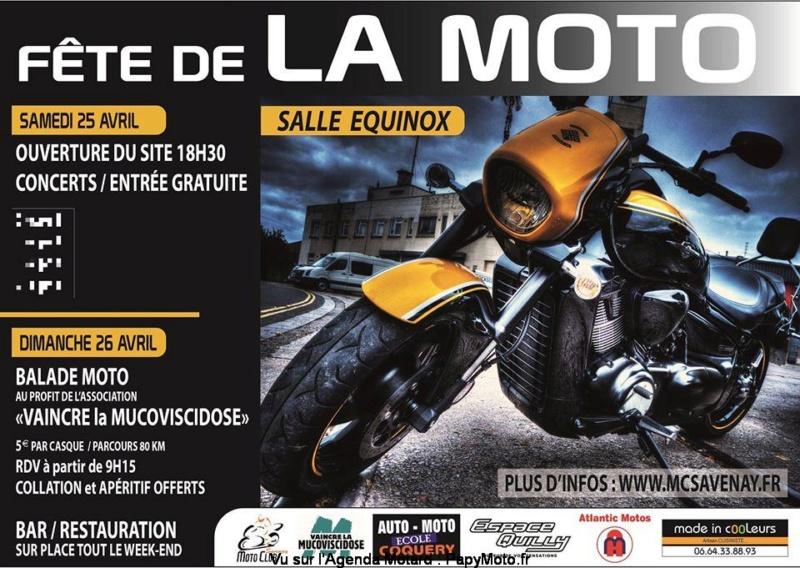 MANIFESTATION - Fête de la Moto - Samedi 25 Avril 2020 - Savenay (44) Fzote-44