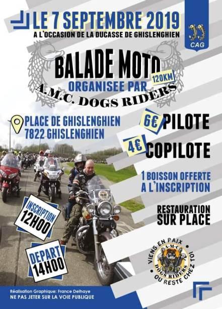 MANIFESTATION - Balade Moto - 7 Septembre 2019 - Ghislenghien (7822) Belgique  Ghisle11