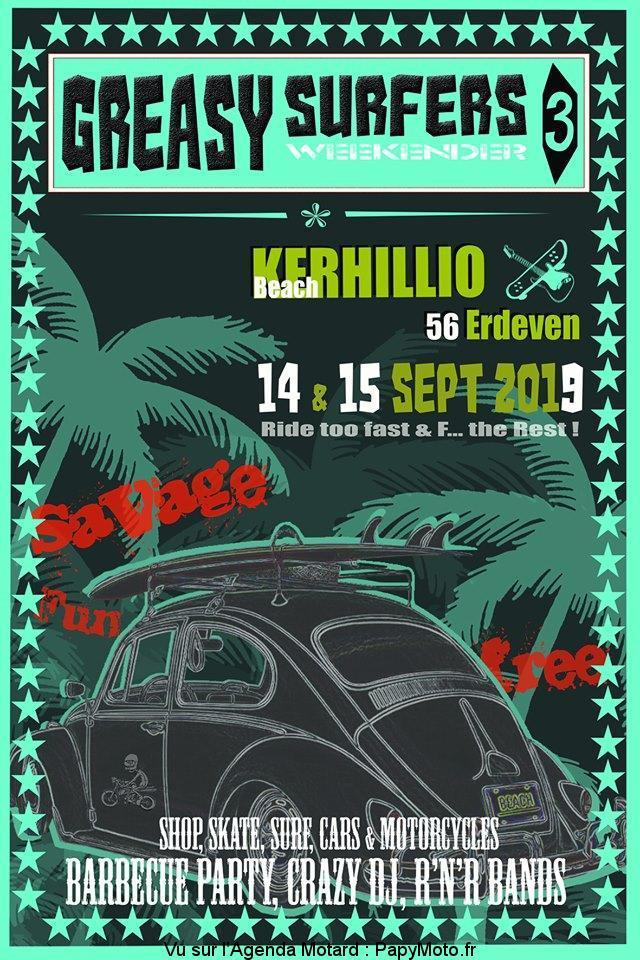 MANIFESTATION - Greasy Surfers 3 - 14 & 15 Septembre 2019 - Erdeven (56) Greasy11