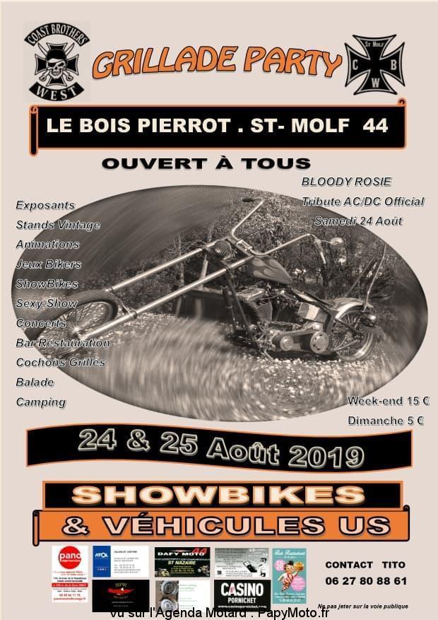 MANIFESTATION - Grillade Party - Showbikes - 24 & 25 Aout 2019 - Le Bois Pierrot .ST.MOLF (44) Grilla11