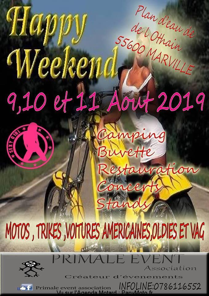 MANIFESTATION - Happy Week-End - 9 - 10 - & 11 AOUT 2019 - Marville (55600) Happy-12