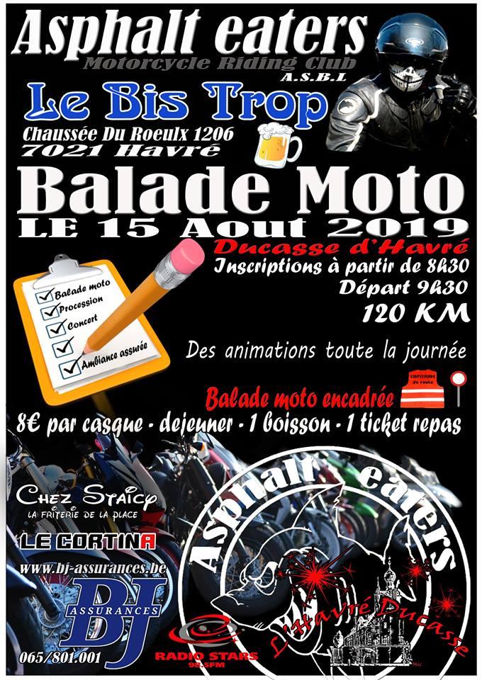 MANIFESTATION - Balade Moto - 15 AOUT 2019 - Havré (7021) Havre10