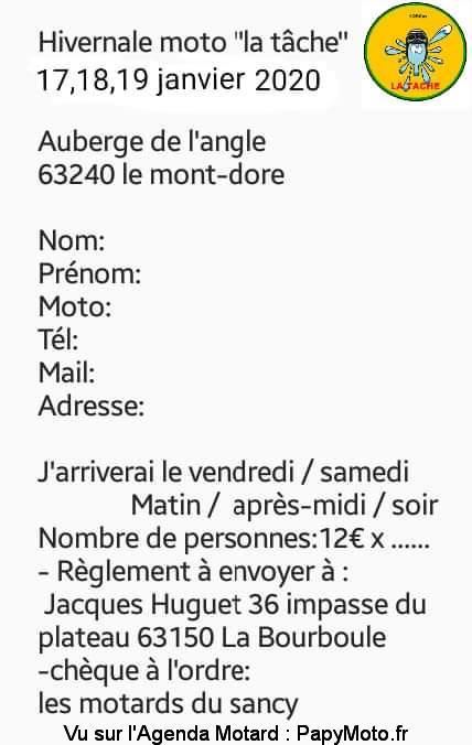 MANIFESTATION - Hivernale Moto - 17 - 18 - 19 Janvier 2020 - Le Mont-Dore (63240) Hivern16