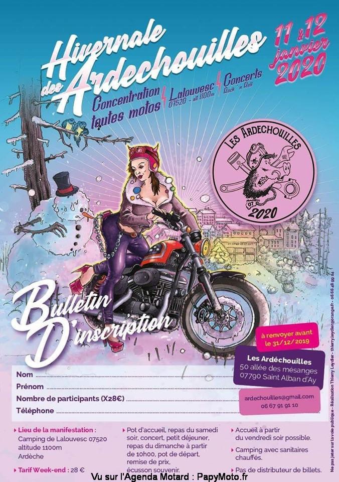 MANIFESTATION - Hivernale des Ardéchouilles - 11 & 12 Janvier 2020 -Lalouvesc (07520) Ardèche  Hivern18