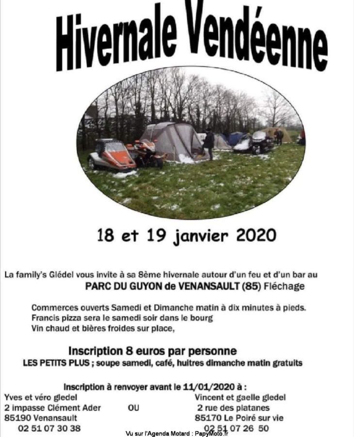 MANIFESTATION - Hivernale Vendéenne - 18 & 19 Janvier 2020 - Venansault (85)  Hivern19