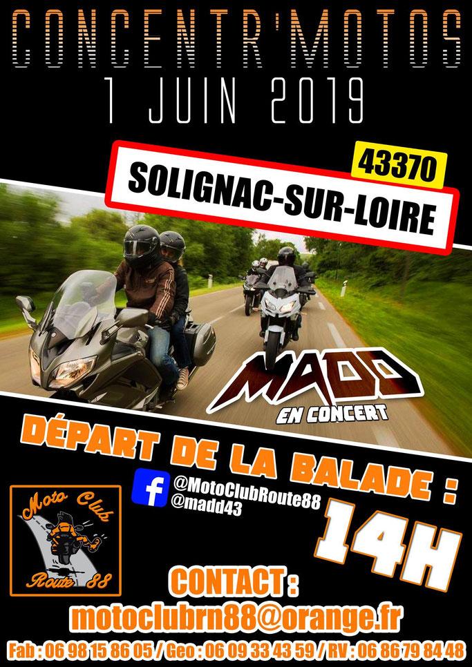 MANIFESTATION - Concentration Motos - 1er Juin 2019 - Solignac - Sur - Loire Image142