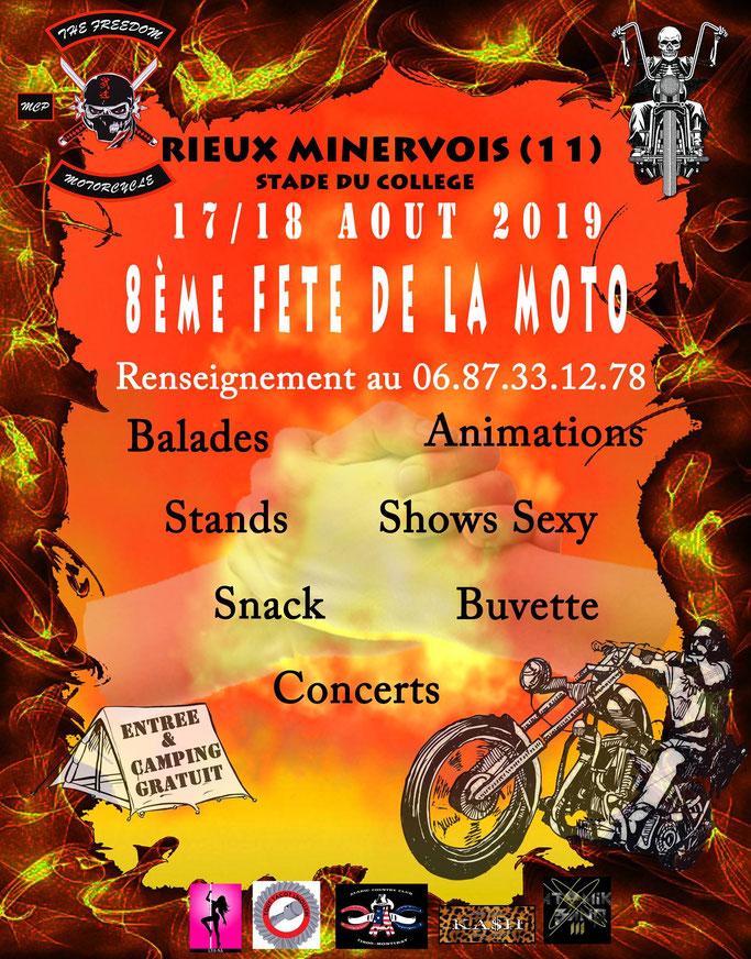MANIFESTATION - Fete de la Moto - 17 & 18 AOUT 2019 - Rieux Minervois (11) Image155