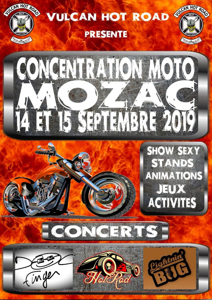 MANIFESTATION - Concentration Moto - 14 & 15 Septembre 2019 - MOZAC  Image179