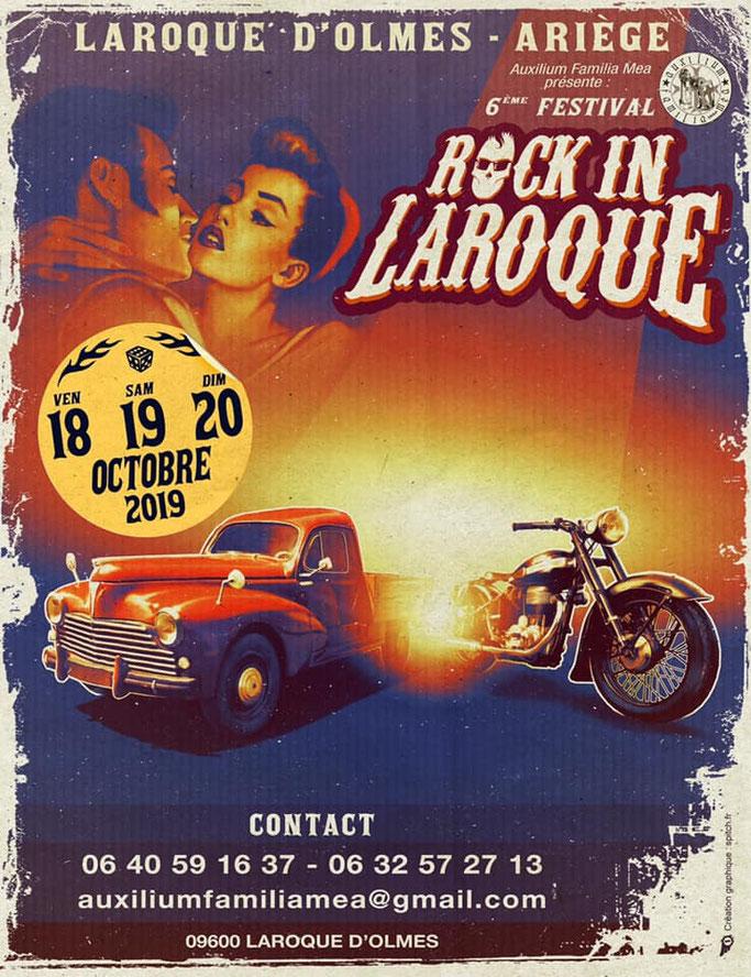 MANIFESTATION -  Festival Rock in Laroque - 18 - 19 - 20 Octobre 2019 Laroque D'Olmes (09600) Image186