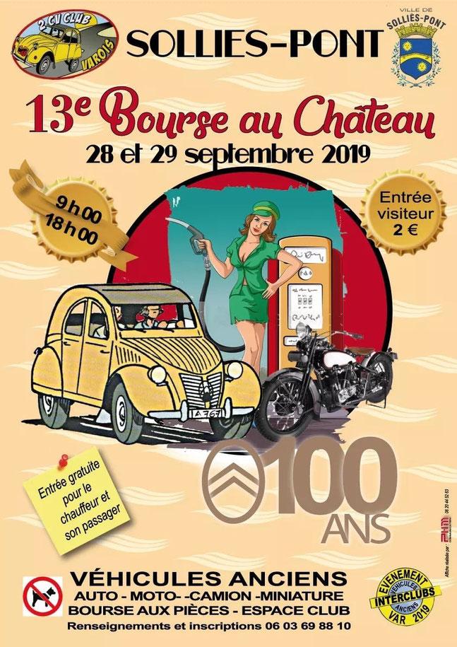 MANIFESTATION - 13ème Bourse au Château - 28 & 29 Septembre 2019 - Sollies-Point  Image192