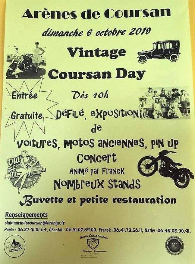 MANIFESTATION - Vintage Coursan Day - Dimanche 6 Octobre 2019 - Arènes de Coursan  Image205