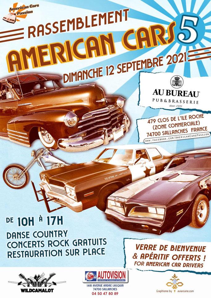 MANIFESTATION - Américan Cars - Dimanche 12 Septembre 2021 - Sallanches (74700) Image292