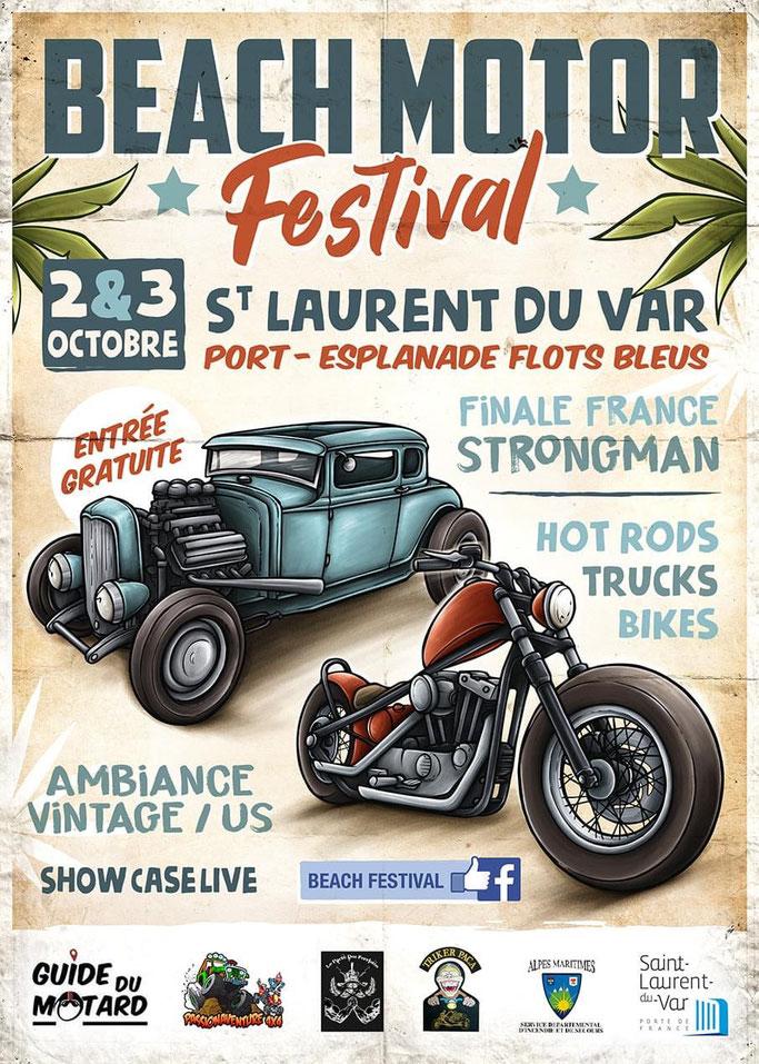 MANIFESTATION - Beach Motor Festival - 2 et 3 Octobre 2021 - St Laurent du Var  Image302