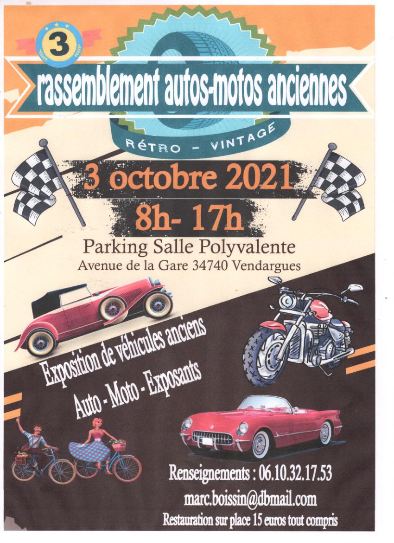 MANIFESTATION - Rassemblement Autos & Motos - 3 Octobre 2021 - Vendargues - ( 34740) Image304