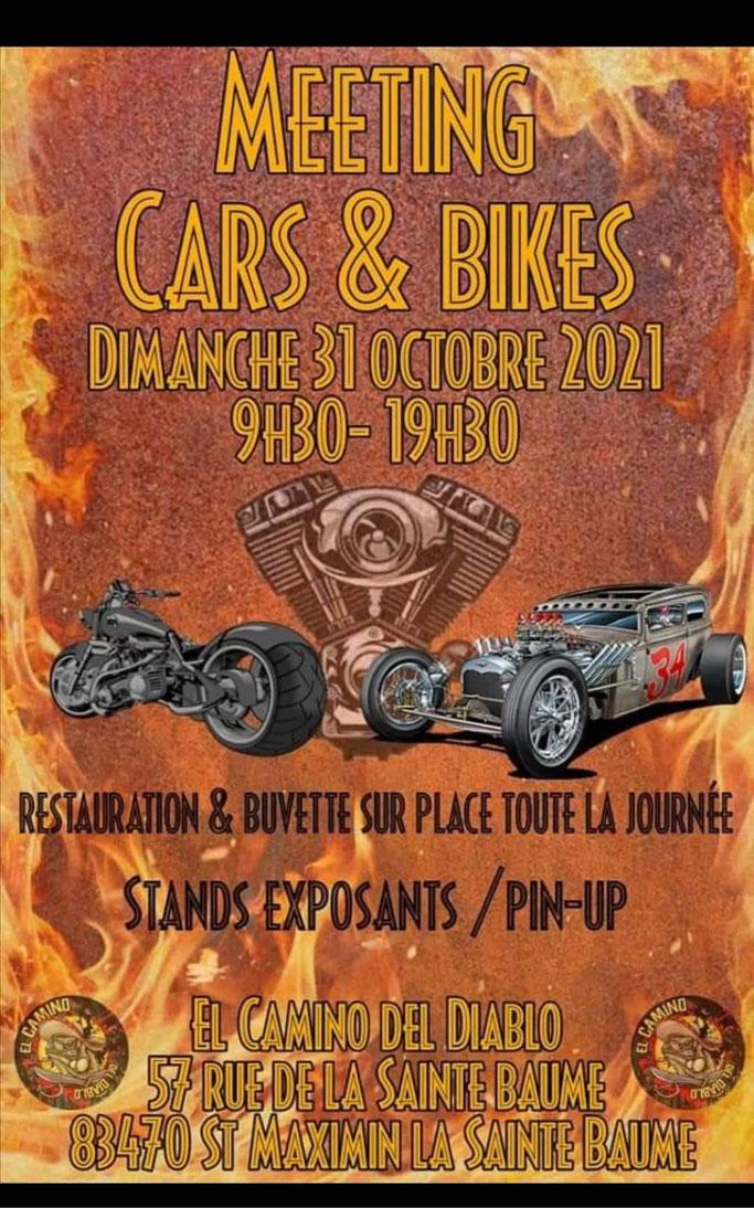 MANIFESTATION - Meeting Cars & Bikes - Dimanche 31 Octobre 2021 - St Maximin La Sainte Baume (83)  Image313