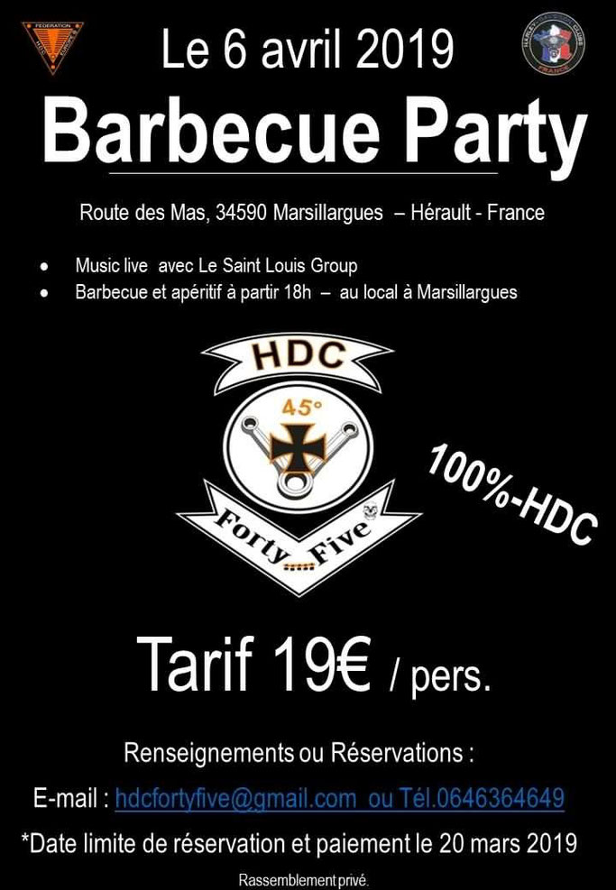 Barbecue Party - Samedi 6 Avril 2019 - Marsillargues - (34590) Hérault -France  Image36