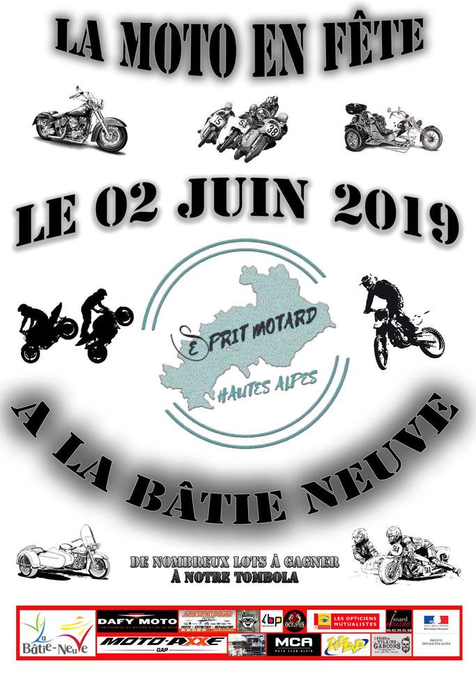 MANIFESTATION - La Moto en Fete -  2 Juin 2019 - La Batie Neuve (Hautes Alpes)  Image43