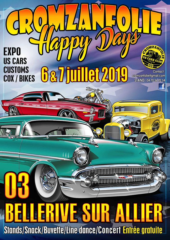 MANIFESTATION - Happy Days -  6 & 7 Juillet 2019 - Bellerive sur Allier (03) Image45