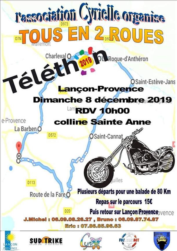 MANIFESTATION - Tous en 2 Roues - Dimanche 8 Décembre 2019 - Lançon-Provence  Image60