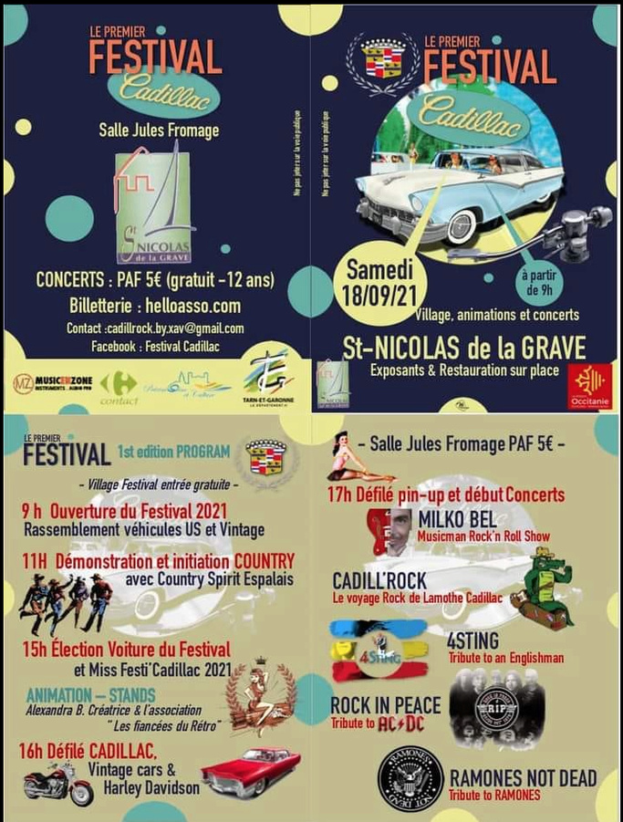 MANIFESTATION - Festival Cadillac - Samedi 18 Septembre 2021 - St Nicolas de la Grave  - Image83