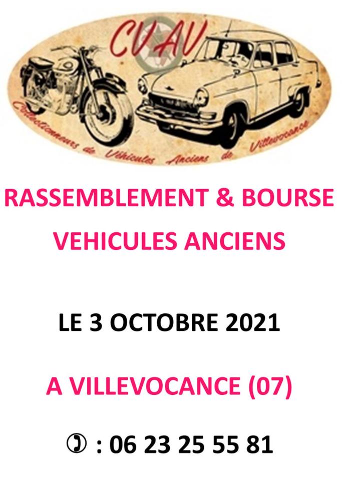 MANIFESTATION - Rassemblement & Bourse Véhicules Anciens - 3 Octobre 2021 - Villevocance (07) Image_16