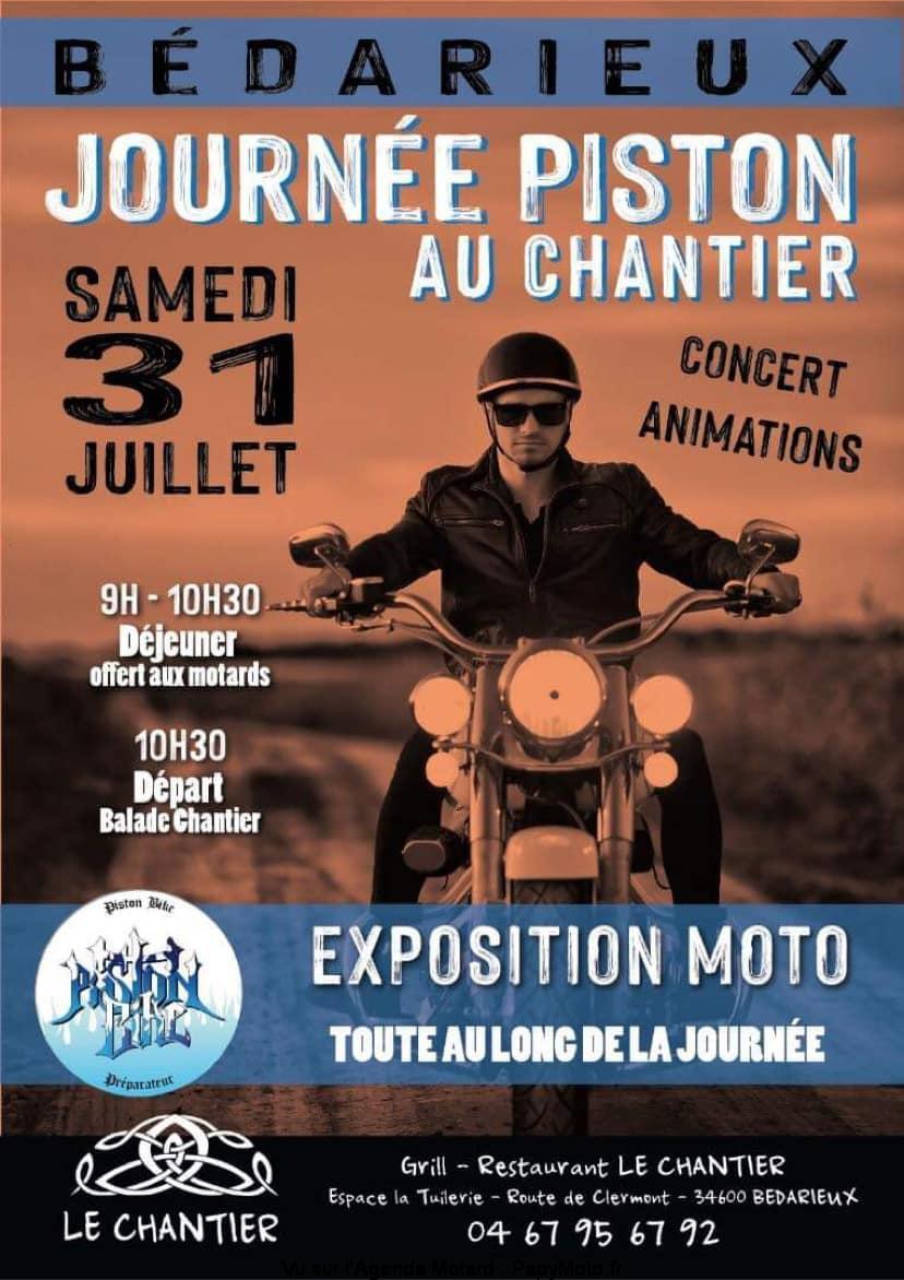 MANIFESTATION - Journée Piston au Chantier & Expo Moto - Samedi 31 Juillet 2021 - Bédarieux (34600) Journe10