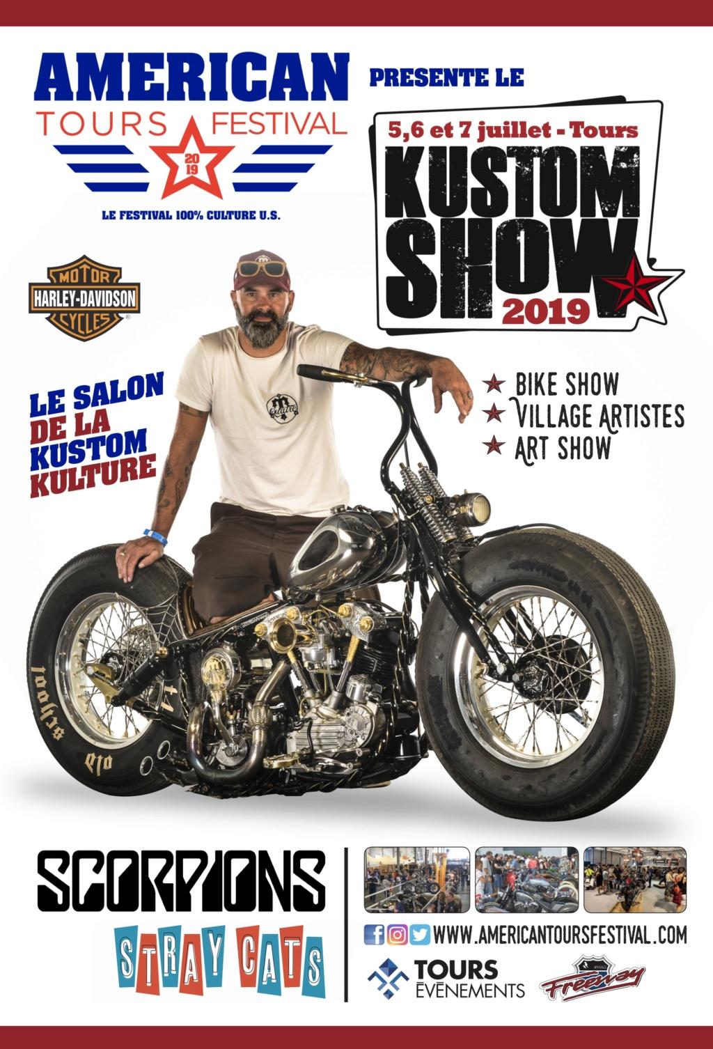 MANIFESTATION - Kustom Show - 5-6-7 Juillet 2019 - TOURS  Kustom14