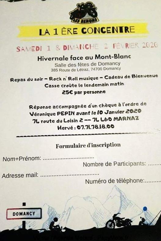 MANIFESTATION - 1er concentre Hivernale - 1er & 2 Février 2020 - Domancy (74700) La-1er10