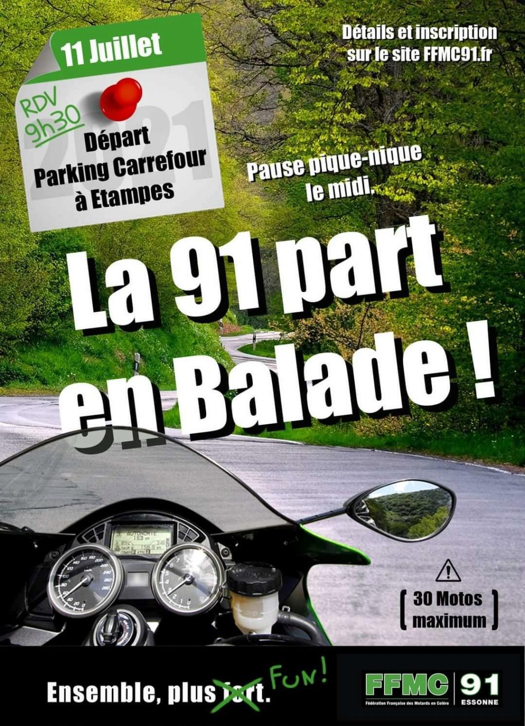 MANIFESTATION - Balade Moto 11 Juillet 2021 Etampes (91) La-91-10