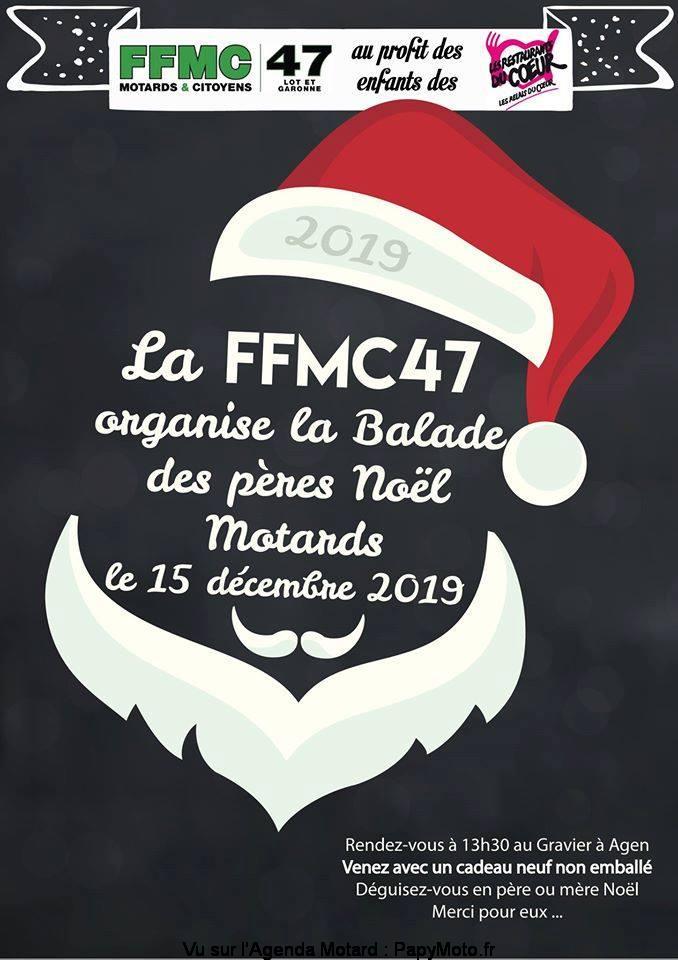 MANIFESTATION - Balade des Pères Noel - 15 Décembre 2019 - Agen (47) La-bal13
