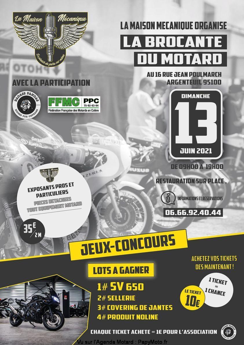 MANIFESTATION - Brocante du Motard Dimanche 13 Juin 2021 Argenteuil 95100 La-bro10