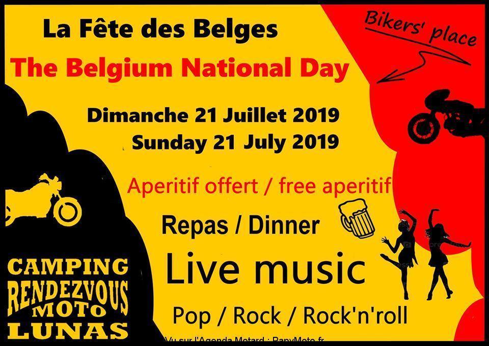 MANIFESTATION - FETE DES BELGES - 21 Juillet 2019 - LUNAS - (34) La-fzo12