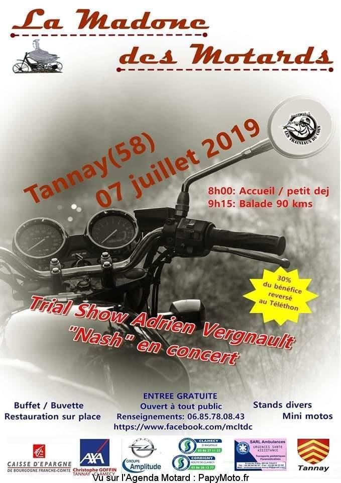 MANIFESTATION - La Madone des Motards - Dimanche 7 Juillet 2019 - Tannay (58) La-mad10