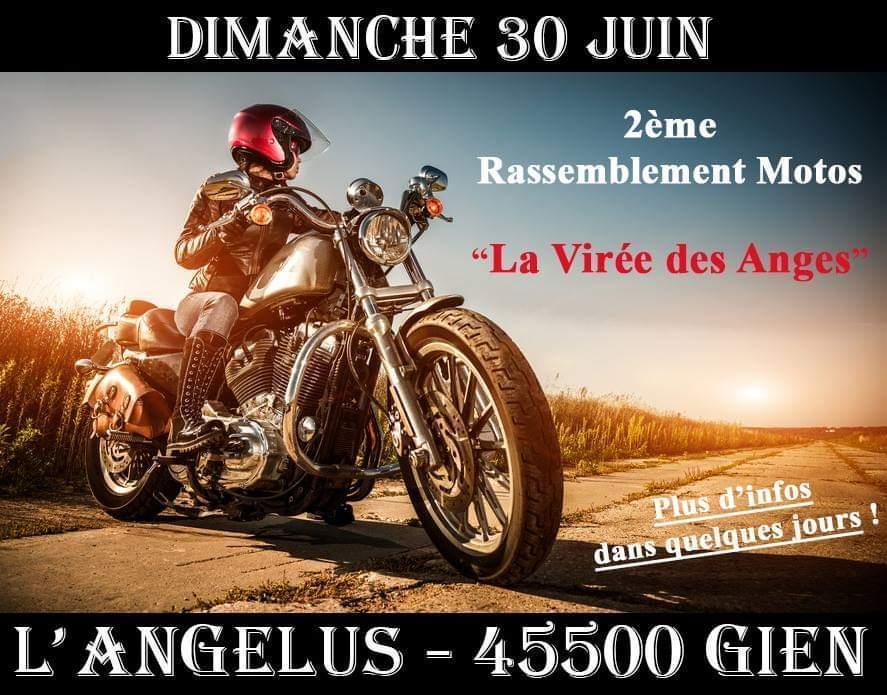 MANIFESTATION - Rassemblement Motos - Dimanche 30 Juin 2019 - L'Angelus  - Gien  (45500) -  La-vir10