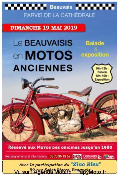 MANIFESTATION - Expo Motos Aciennes - 19 Mai 2019 - Bauvais -  Le-bea10