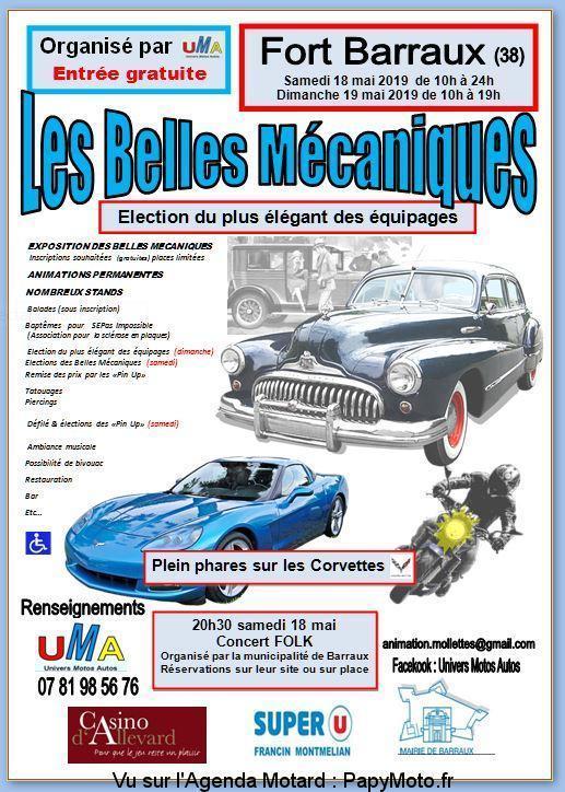 MANIFESTATION - Les Belles Mécaniques - 18 & 19 Mai 2019 - Fort Barraux (38) Les-be10