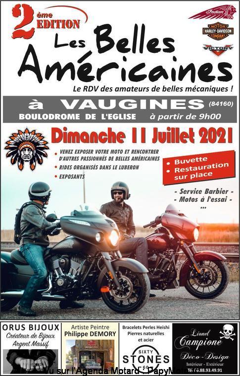 MANIFESTATION - Les Belles Américaines - Dimanche 11 Juillet 2021 - Vaugines (84160) Les-be11