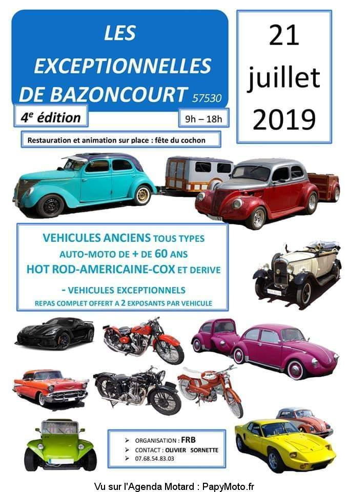 MANIFESTATION - Les Exceptionnelles - 21 Juillet 2019 - Bazoncourt (57530) Les-ex10