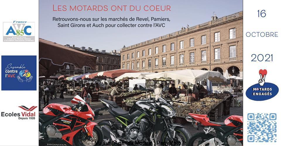 MANIFESTATION - Les Motards ont du COEUR - 16 Octobre 2021 - Revel - Pamiers - Saint Girons & Auch - Les-mo14