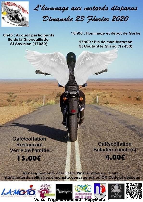 MANIFESTATION - Hommage aux Motards Disparus - 23 Février 2020 St Savinien (17350) Lhomma10