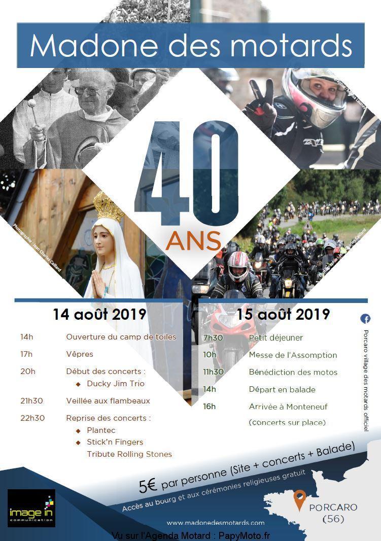 MANIFESTATION - Madonne des Motards - 14 & 15 aout 2019 - Porcaro (56) Madone10