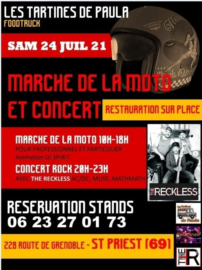 MANIFESTATION - Marché de la Moto - 24 Juillet 2021 - St Priest (69) Marche11