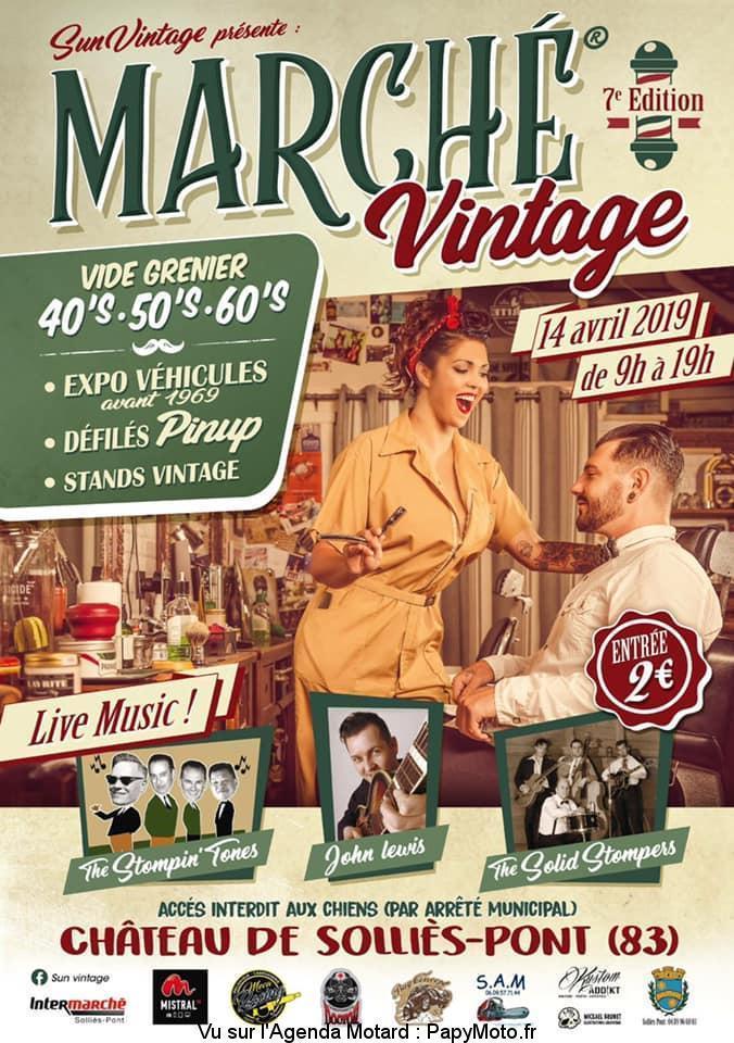 Marché Vintage  - 14 Avril 2019 - Chateau de Solliès-Pont (83) Marchz10