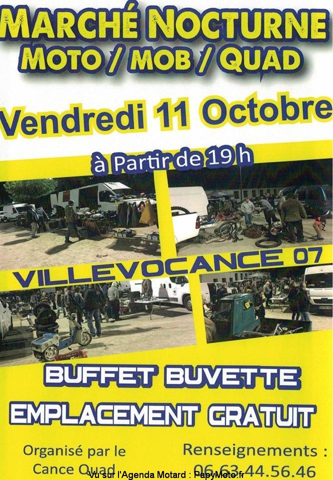 MANIFESTATION - Marché Nocturne - Vendredi 11 Octobre 2019 -Villevocance (07) Marchz11