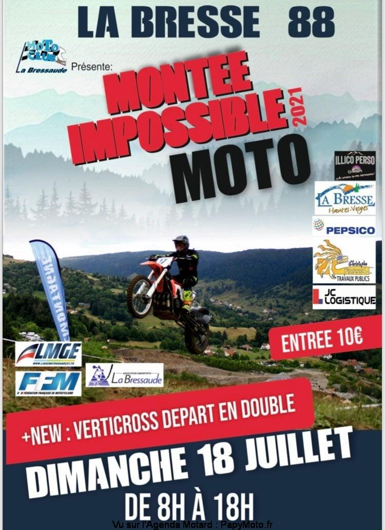 Manifestation - Montée Impossible  Moto - Dimanche 18 Juillet 2021 - La Bresse (88) Montee10