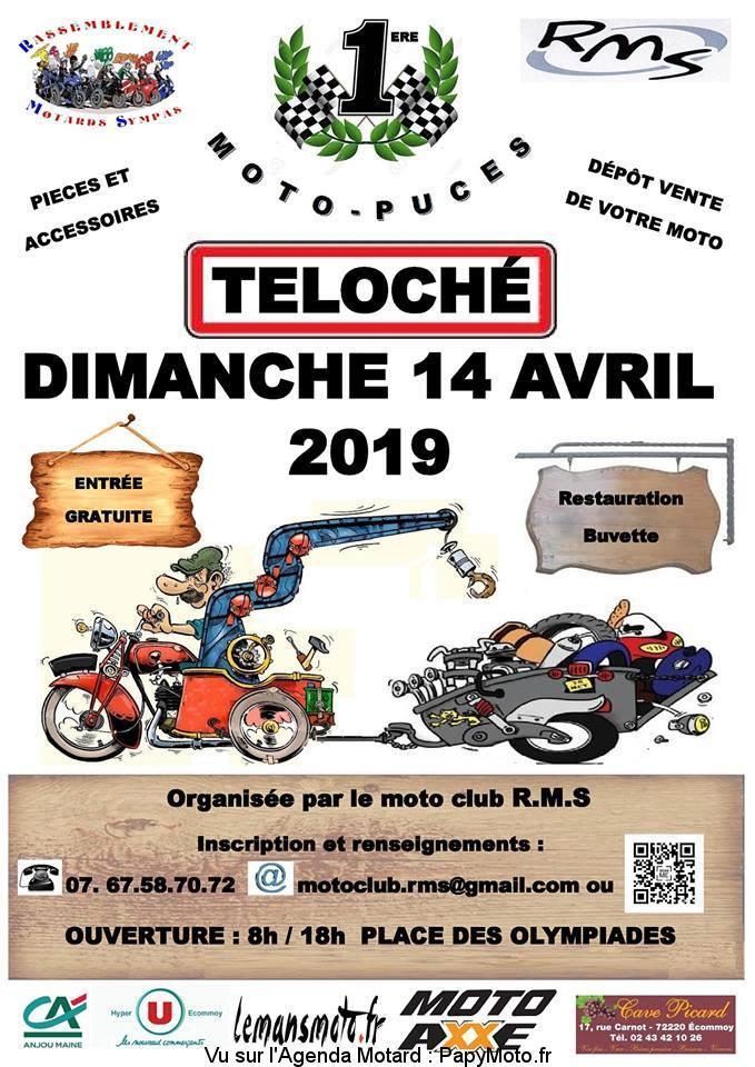Moto - Puces - Dimanche 14 Avril 2019  - Teloché  Moto-p11