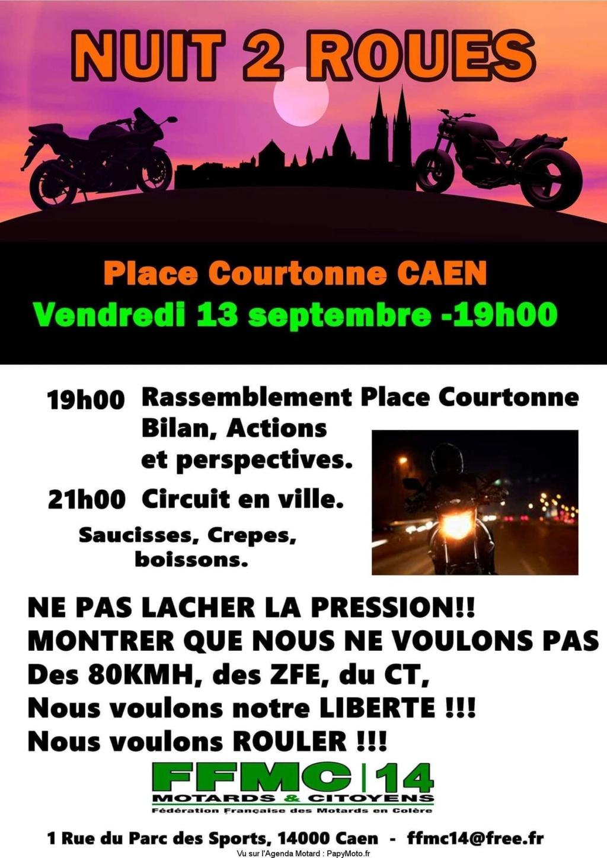 MANIFESTATION - Nuit du 2 Roues - Vendredi 13 Septembre 2019 - CAEN (14000) Nuit-210