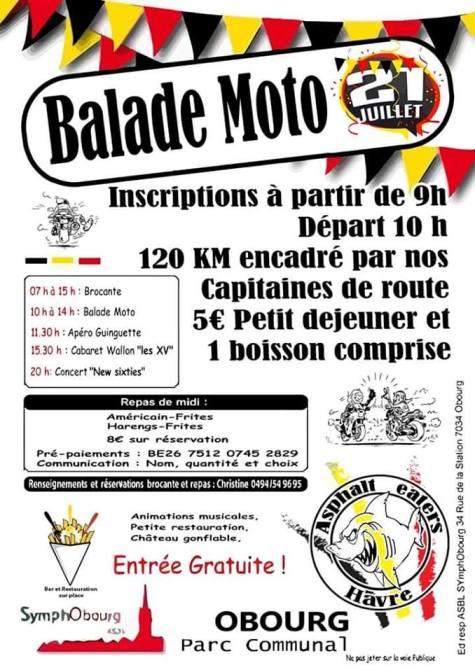 MANIFESTATION - Balade Moto - 21 Juillet 2019 - OBOURG ( Belgique ) Obourg10