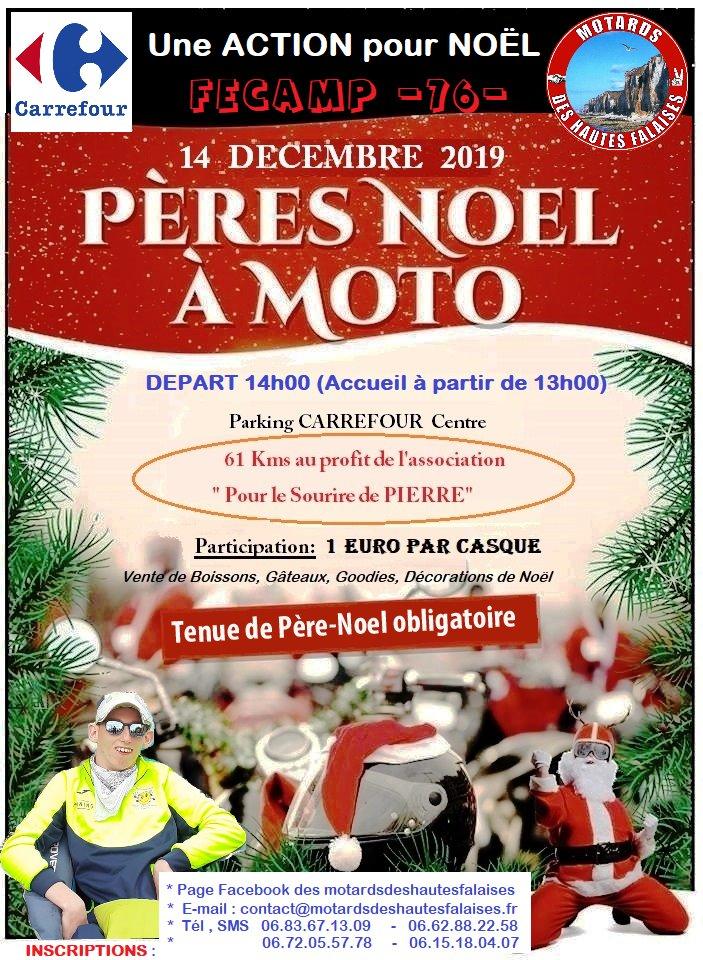 MANIFESTATION - Pères Noel a  m oto- 14 Décembre 2019 - Fécamp (76) Peres-10